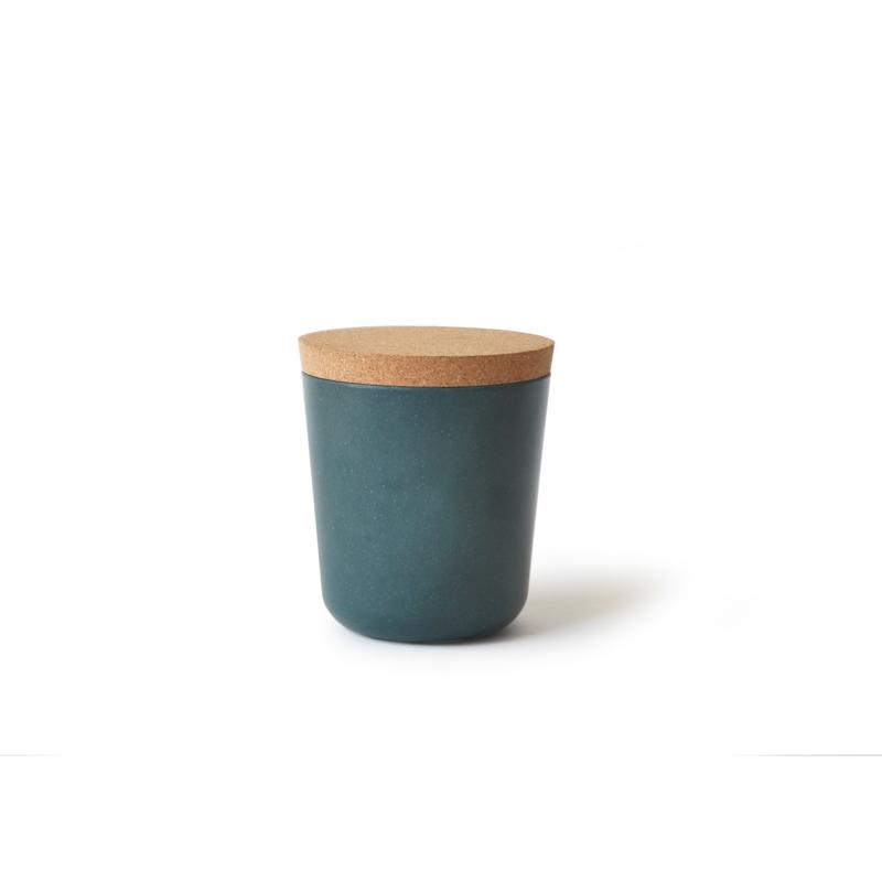 vorratsdose mit korkdeckel plastikfrei aus bambusfaser biobu gusto ekobo. Black Bedroom Furniture Sets. Home Design Ideas
