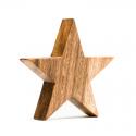 Stern Aufsteller aus Akazienholz Fair trade