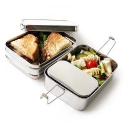 3-in-1 Edelstahl-Lunchbox 900 ml