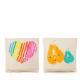 Pausenbrotbeutel Doppelpack aus Bio-Baumwolle