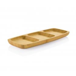 3-er Servierplatte aus Bambus
