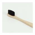 Zahnbürste aus Bambus mit Bambuskohle
