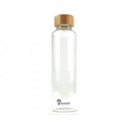 Auslaufsichere Glas-Trinkflasche 550 ml