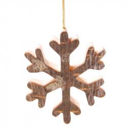 Weihnachtsschmuck aus Birkenrinde