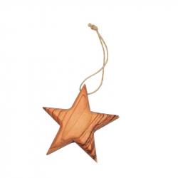 """Weihnachtsschmuck """"Stern"""" aus Olivenholz"""
