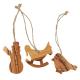 Weihnachtsschmuck aus Holz - 3er Set