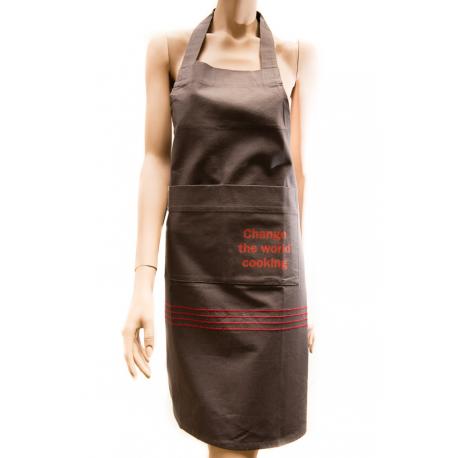 Fair Trade Schürze aus Bio-Baumwolle 'Change the World Cooking'
