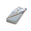 Schreibblock mit Stift aus wiederverwertetem Papier