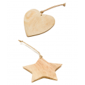 Fairtrade Weihnachtsschmuck aus Akazienholz