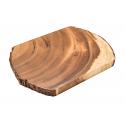 Schneidbrett Akazienbaumscheibe 23x32 cm