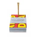 Upcycling-Schreibblock mit Kugelschreiber