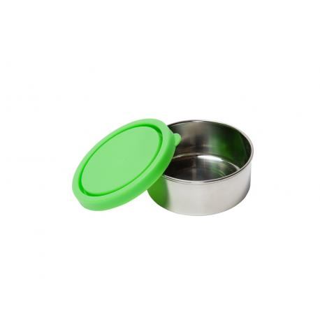 Runde Lunchbox 150 ml aus Edelstahl grün